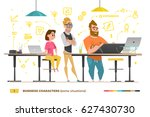 business characters in some... | Shutterstock .eps vector #627430730