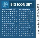 big icon set clean vector | Shutterstock .eps vector #627436424