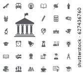 university building on the... | Shutterstock .eps vector #627436760