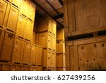 Large warehouse of big wood...