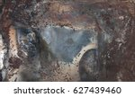 rusted colorful tin background | Shutterstock . vector #627439460