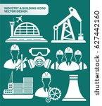 industry and building icon set... | Shutterstock .eps vector #627442160
