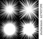 comic book radial lines... | Shutterstock .eps vector #627457190