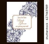 vintage delicate invitation...   Shutterstock . vector #627465989