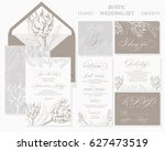 template rustic wedding... | Shutterstock .eps vector #627473519