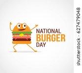 national burger day vector... | Shutterstock .eps vector #627479048