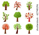 collection of trees  isolated... | Shutterstock .eps vector #62748196