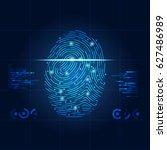 concept of digital security ... | Shutterstock .eps vector #627486989