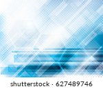 abstract technology blue... | Shutterstock .eps vector #627489746