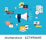 advertising and marketing... | Shutterstock .eps vector #627490640