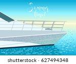 boat in the ocean. cruise or...   Shutterstock .eps vector #627494348