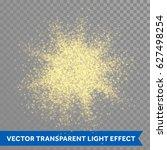 gold glitter powder explosion.... | Shutterstock .eps vector #627498254