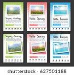 annual report brochure flyer... | Shutterstock .eps vector #627501188