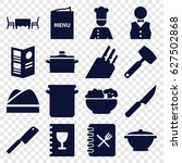 chef icons set. set of 16 chef... | Shutterstock .eps vector #627502868
