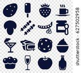 Fresh Icons Set. Set Of 16...