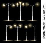 Lanterns Street Set On A Night...