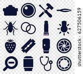 macro icons set. set of 16... | Shutterstock .eps vector #627506159