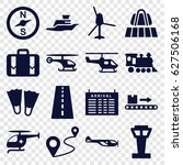 trip icons set. set of 16 trip... | Shutterstock .eps vector #627506168