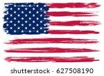 grunge american flag.vector... | Shutterstock .eps vector #627508190