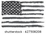 grunge american flag.vector... | Shutterstock .eps vector #627508208