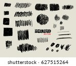 pencil sketch texture set... | Shutterstock .eps vector #627515264