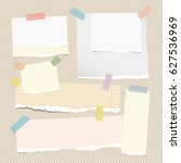 colorful and blank white note ... | Shutterstock .eps vector #627536969