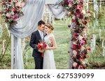 beautiful caucasian couple in... | Shutterstock . vector #627539099