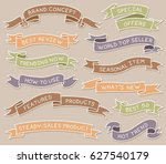 colored hand drawn ribbon...   Shutterstock .eps vector #627540179
