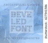chisel alphabet vector font....   Shutterstock .eps vector #627541586