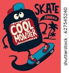 skater monster | Shutterstock .eps vector #627545240