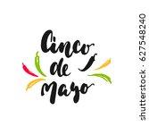 cinco de mayo mexican hand... | Shutterstock .eps vector #627548240