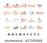parents day badge design .... | Shutterstock .eps vector #627550568