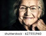 portrait of a beautiful senior... | Shutterstock . vector #627551960