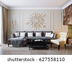 modern classic beige gray...   Shutterstock . vector #627558110
