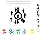 people search icon. customer... | Shutterstock .eps vector #627564653