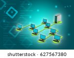 3d illustration of wireless... | Shutterstock . vector #627567380