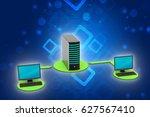 3d illustration of wireless... | Shutterstock . vector #627567410