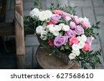 wedding decor. beautiful flower ... | Shutterstock . vector #627568610