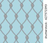 marine rope fishnet with knots... | Shutterstock .eps vector #627572393