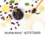 aromatic homemade scrub paste... | Shutterstock . vector #627572600
