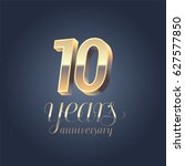 10th anniversary vector icon ... | Shutterstock .eps vector #627577850