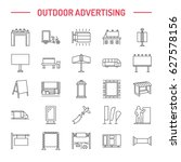 outdoor advertising  commercial ... | Shutterstock .eps vector #627578156