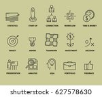 set of business icons. outline... | Shutterstock .eps vector #627578630