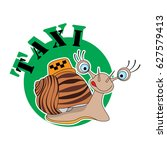 the image of a snail with the...   Shutterstock . vector #627579413