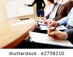 close up of businesspeople... | Shutterstock . vector #62758210