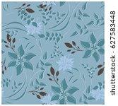 vector seamless pattern flowers ... | Shutterstock .eps vector #627583448
