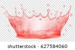 transparent water crown. splash ... | Shutterstock .eps vector #627584060