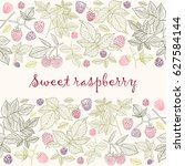 vector illustration. raspberry... | Shutterstock .eps vector #627584144