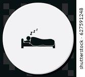 sleeping icon. | Shutterstock .eps vector #627591248