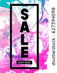 sale. shop now. black... | Shutterstock .eps vector #627594098